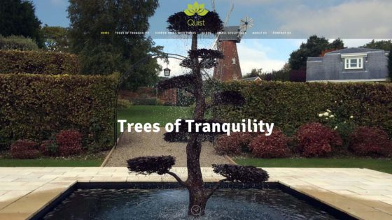 sculpture fountains, Quist Trees of Tranquility sculpture fountains website, Click web design, Click web design